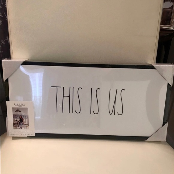 "NWT RAE DUNN ""This is Us"" Framed Canvas Sign"